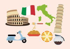 Flat Italia Vectoren