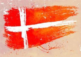 Geschilderd Deense Vlag Achtergrond Achtergrond vector