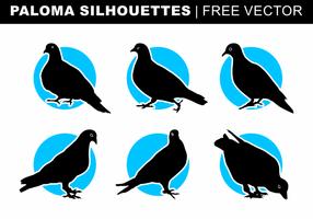Paloma Silhouettes Gratis Vector