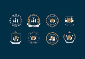 Bowling Competitie Logo Gratis Vector
