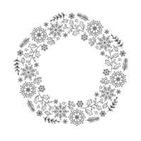 kerst monoline bloemenkrans