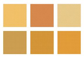 Naadloos Waffle Patroon Vectoren