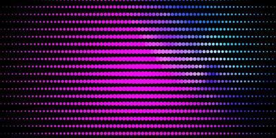 roze en blauwe achtergrond met cirkels.