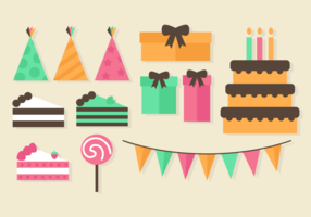 Gratis Birthday Party Elementen vector