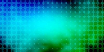 blauwe en groene achtergrond met cirkels.