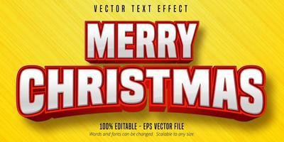 vrolijke kersttekst, bewerkbaar teksteffect in kerststijl