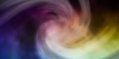 blauw, geel en paars sjabloon met lucht, wolken. vector