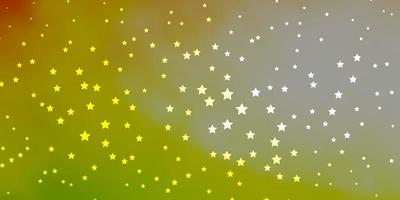 donkergroen en rood patroon met abstracte sterren