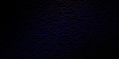 donkerblauwe en rode lay-out met wrange lijnen.