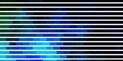 donkerblauwe en groene achtergrond met lijnen. vector
