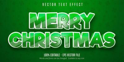 vrolijk kerstfeest teksteffect vector