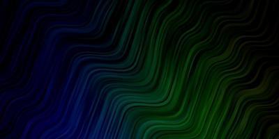 blauw en groen patroon met wrange lijnen.