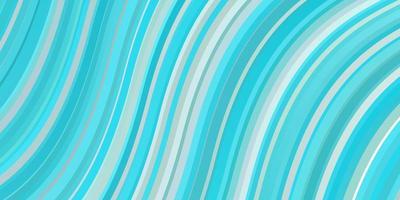 lichtblauw en groen sjabloon met gebogen lijnen. vector