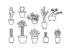 Gratis Bloemen Illustratie van de Lijn Vector