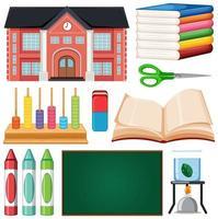 set school elementen vector