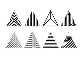 Vector Hipster driehoeken