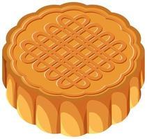 geïsoleerde mooncake op witte achtergrond