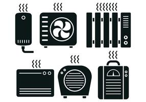 Heater Icon Vector Set