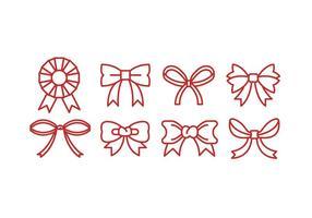 Red Linear Ribbon Vector Ionen