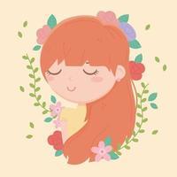 jonge vrouw en bloemen samenstelling