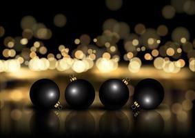 elegante kerst achtergrond met kerstballen vector