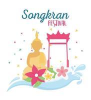 songkran festivalviering vector