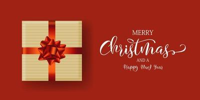 ontwerp van de banner van de kerstcadeau