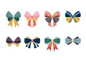 Cute Ribbon Hair Vector Pack