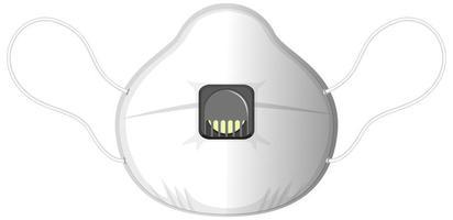 geïsoleerd medisch masker op witte achtergrond