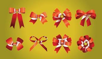 Red Ribbon Bows vector