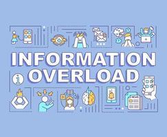 informatie-overload concept, blauwe banner vector