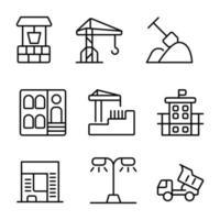 bouw pictogram ontwerpset vector