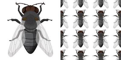 vlieginsect en naadloze achtergrond