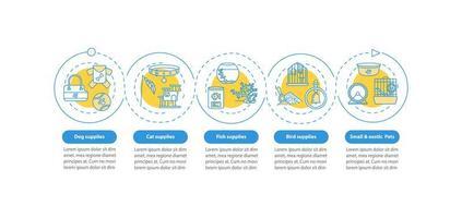 dierenwinkel aanbiedingen, infographic sjabloon vector