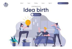 idee geboorte bestemmingspagina met koptekst