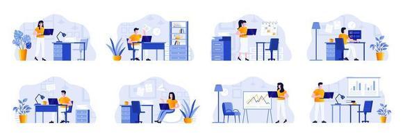 office management scenes bundelen met mensen