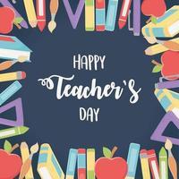 samenstelling van schoolmateriaal voor lerarendag