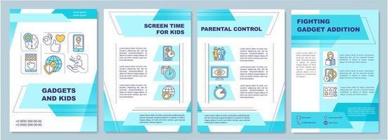 gadget en kinderen, brochuremalplaatje vector
