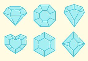 Gratis Sparkly Gems Vector