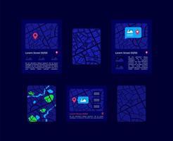 kaarten ui-elementen kit vector