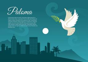 Paloma nacht gratis Vector