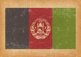 Afghanistan Vlag Op Oude Grungeachtergrond vector