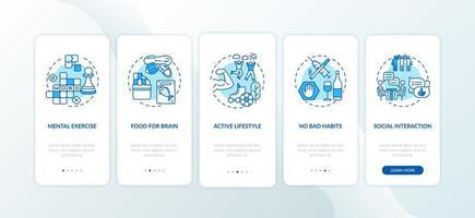 concepten voor mobiele app-pagina's in de gezondheidszorg vector