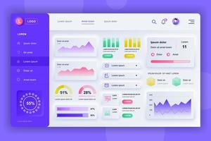 admin panel neumorfisch dashboard ui kit
