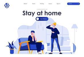 blijf thuis bestemmingspagina ontwerp