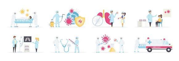 virologie diagnose en behandeling in kliniek set