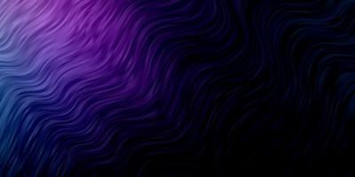 donkerroze en blauw sjabloon met gebogen lijnen. vector