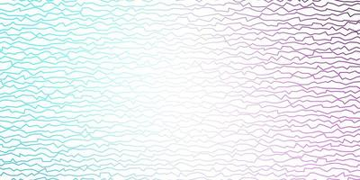 paarse en blauwe lay-out met wrange lijnen.