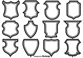 Shield Frames Pictogrammen Vector Set.