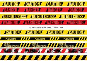 Vector set van naadloze Gevaar en Voorzichtig Tapes